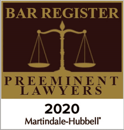 Martindale-Hubbell Preeminent Lawyers 2020